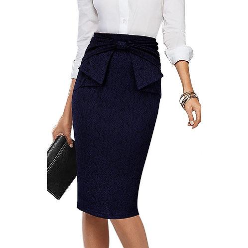 Vfemage Bow Waist Pencil Skirt