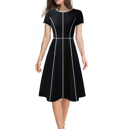 Vfemage Fit and Flare Dress