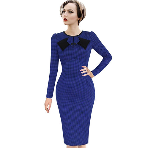 Vfemage Wiggle Blue Dress