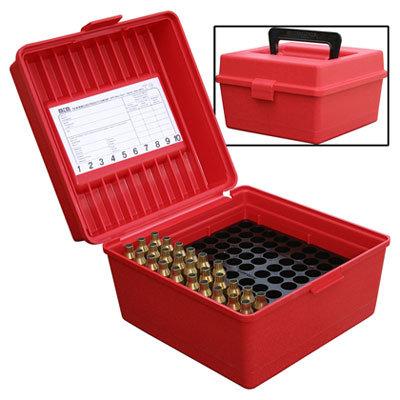 Caja de plastico para 100 balas 308 rojo