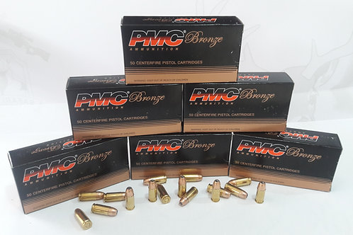 Calibre 9mm, punta HP, Marca: PMC