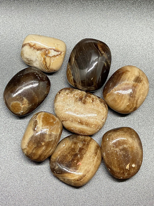 Brown Calcite polished