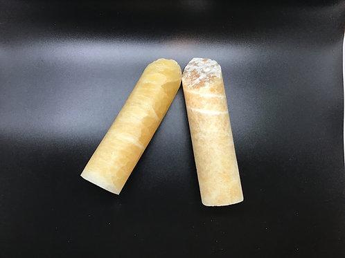 Honeycomb Calcite medium roller Polished
