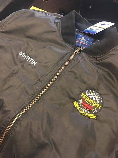Flight Jacket Embroidered Name HTOC Club