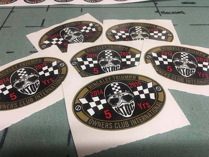 HTOC 5 year sticker