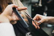 Scissors cut the girls hair.jpg