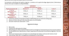 Comunicado Bachillerato 02: Sesiones informativas