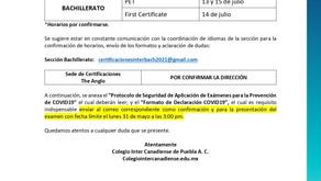 Comunicado: Certificaciones Cambridge Bachillerato