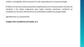 Comunicado: URGENTE