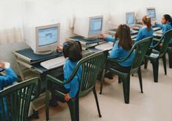 Sala de cómputo en primaria