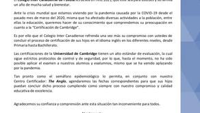 Comunicado 09: Certificaciones