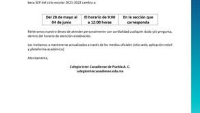 Comunicado: Entrega de Solicitudes de becas Ciclo Escolar 2021-2022