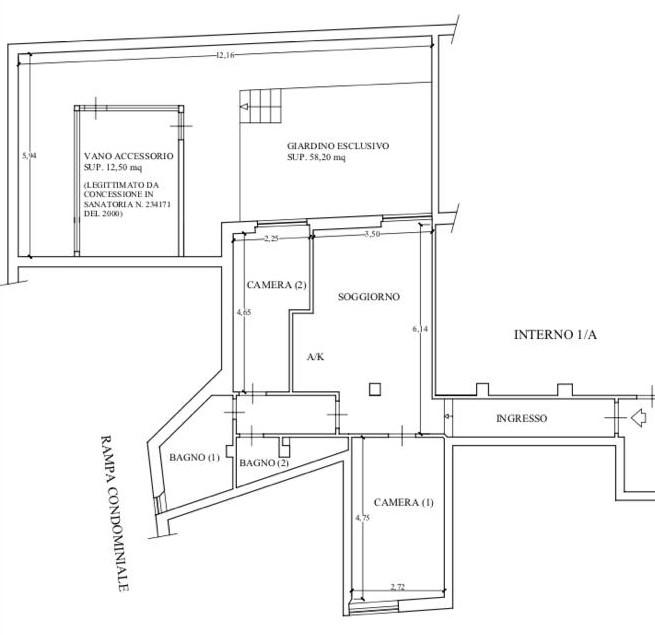 Appartamento con depandance