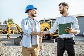Two guys closing a deal