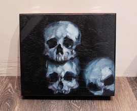 3 Skulls Cigar Box