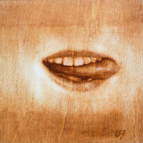 Mouth Series on Wood