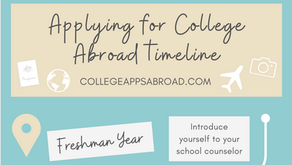 College admissions timeline for U.S. students applying for college abroad