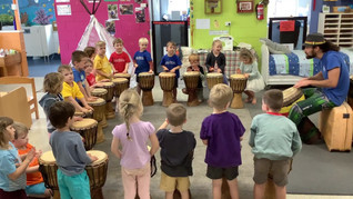 Playing the Djembe...