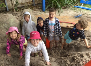 Digging to the bottom of the sand pit