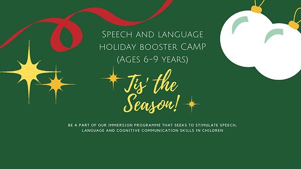 Speech and language camp 6-9 Slider Bann