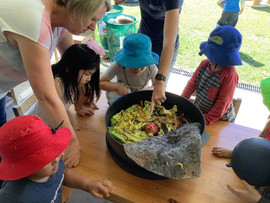 Checking out the Kindy Worms...