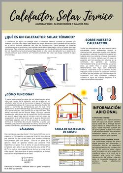 Calefactor solar termico