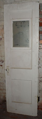 2 Panel Door with Hardware and Mirror Size 24in X 79-1/2in