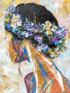 Paint and Sip at Home 'Girl with Flower Garland'