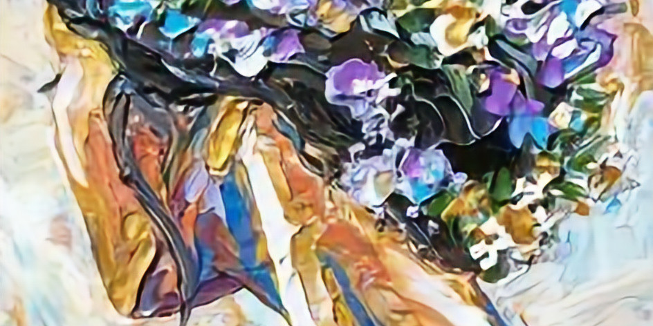 ZOOM RECORDING Paint and Sip at Home 'Girl with Flower Garland'