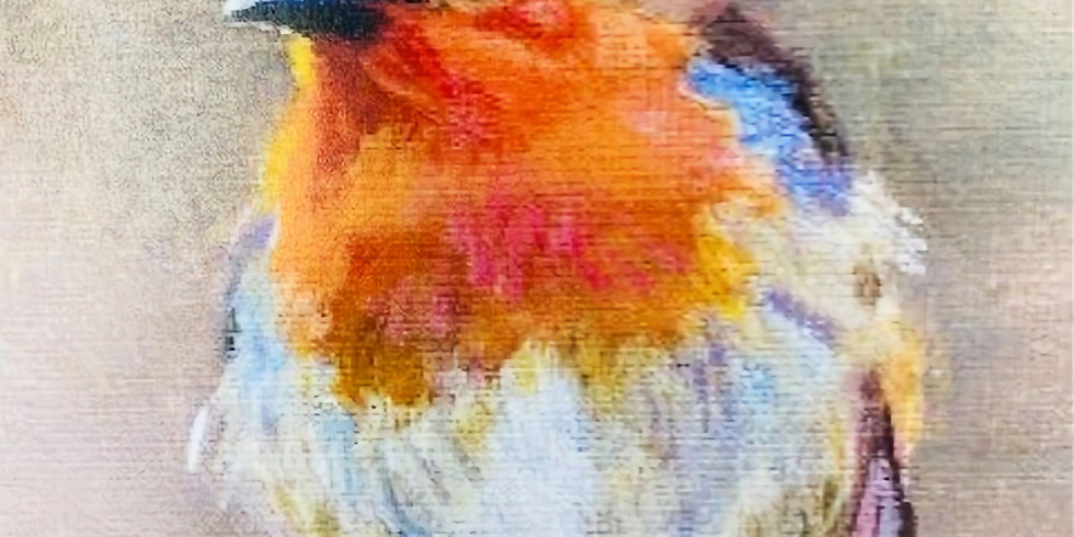 Paint and Sip at Home 'Christmas Robin'