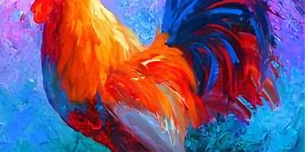 Live Paint and Sip at Home 'Rooster' Live Session