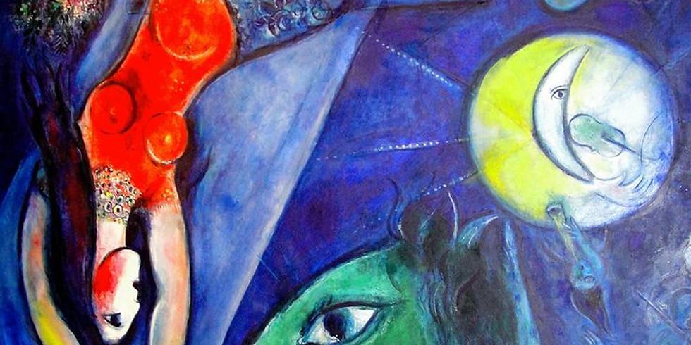 Live Children's Art Webinar 'Marc Chagall The Blue Circus'