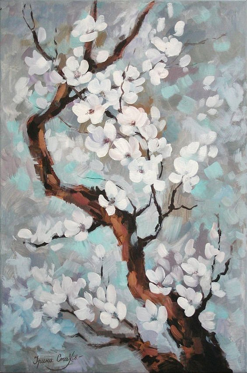 Paint and Sip at Home 'Almond Blossom Tree'