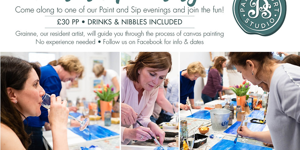 Paint and Sip at Papercourt Studio