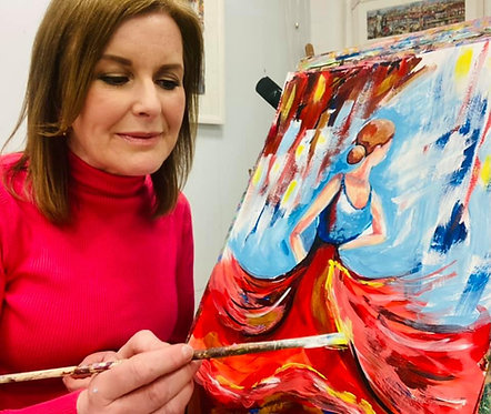 Paint and Sip at Home 'Flamenco Dancer'