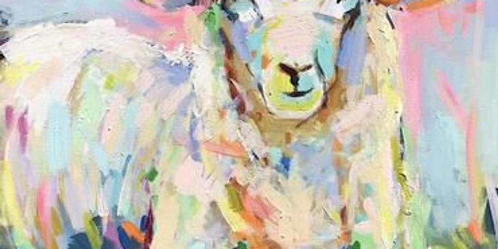 Live Paint and Sip at Home 'Sheepish'