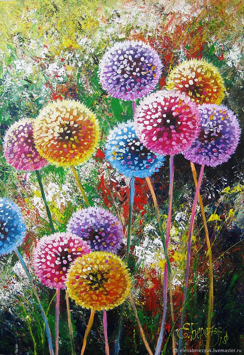 Paint and Sip at Home 'Colourful Dandelions