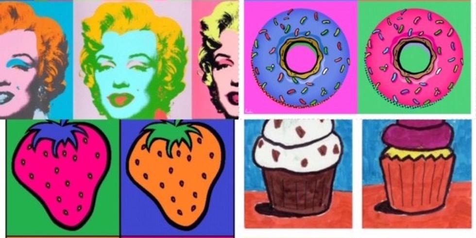 Children's Art Webinar 'Andy Warhol Pop Art'