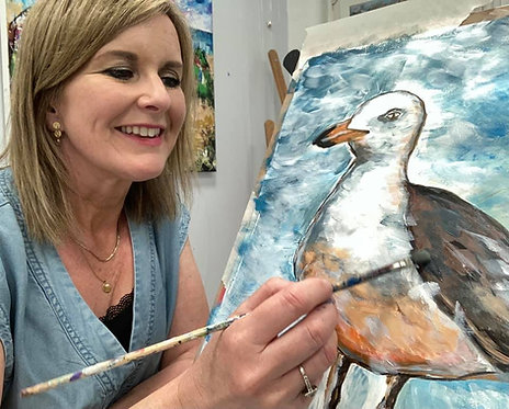 Paint and Sip at Home 'Seagull'