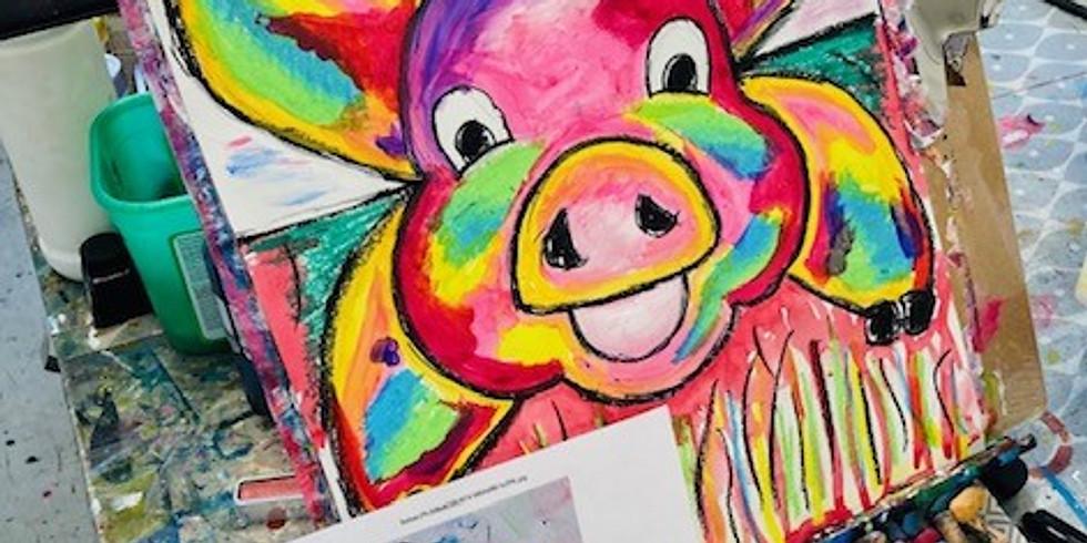 ZOOM RECORDING -Children's Art Webinar 'Patchwork Pig'