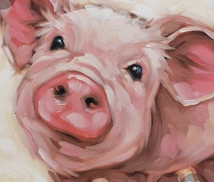 Paint and Sip at Home Piggy'