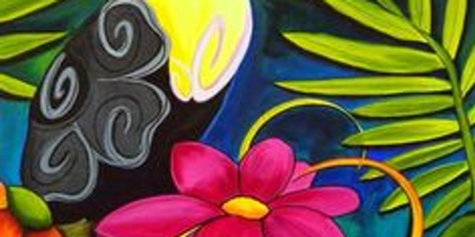Live Children's Art Webinar ' Tropical Toucan'
