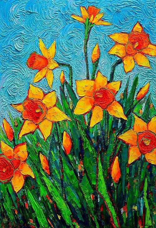 Paint and Sip at Home 'Daffodils'