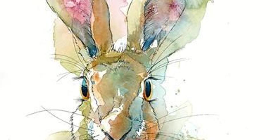 ZOOM RECORDING Half Term Children's Art Webinar 'Harry Hare'