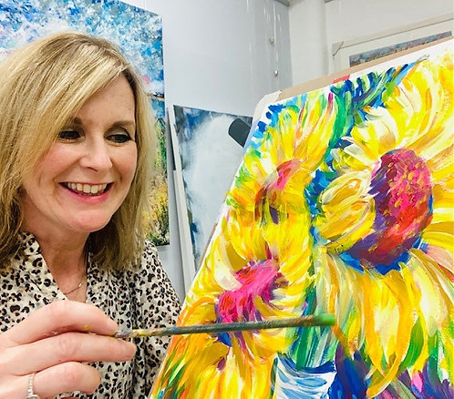 Paint and Sip at Home 'Sunflowers'