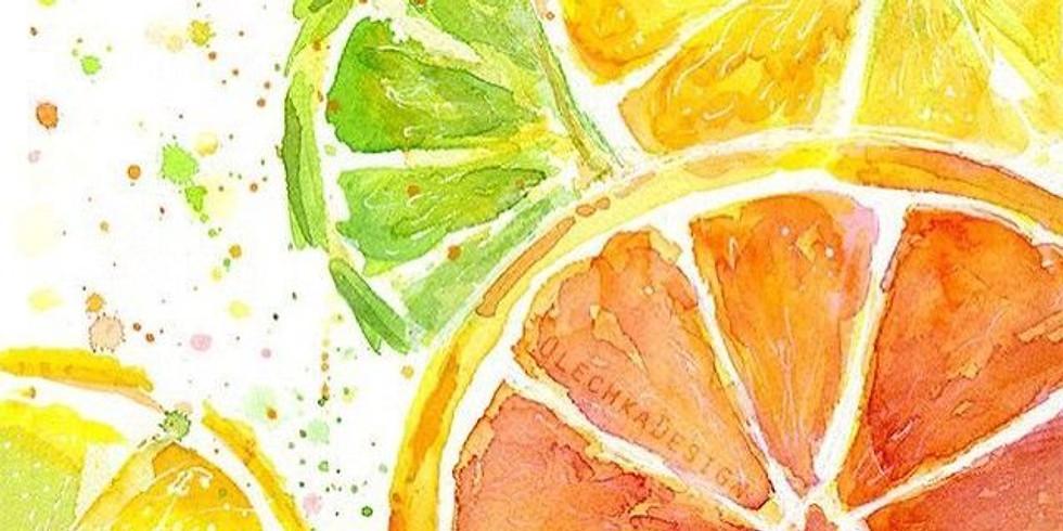 Children's Art Webinar Monday After School Club 'Natural Forms- Citrus'