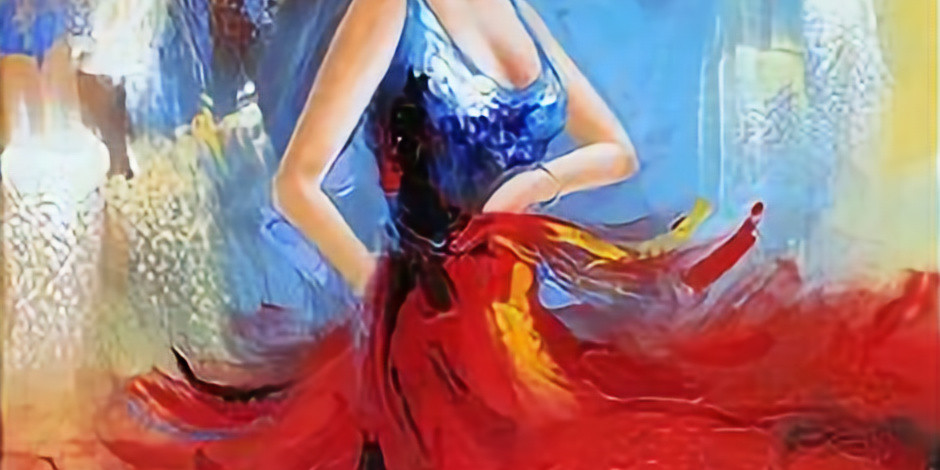 Live Paint and Sip at Home 'Flamenco Dancer'