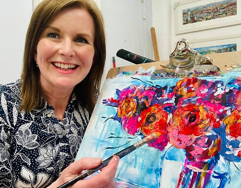 Paint and Sip at Home 'Roses are Red'