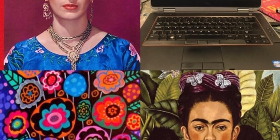 Children's Art Webinar Frida Kahlo Portrait