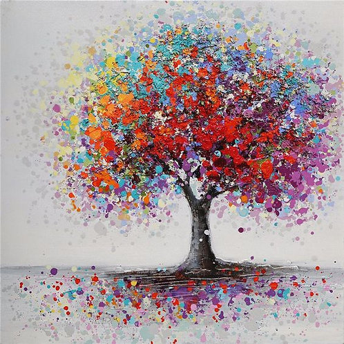 Paint and Sip at Home 'Abstract Blossom Tree'